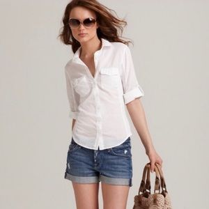 STANDARD JAMES PERSE RIBBED SHIRT NWT WHITE $144